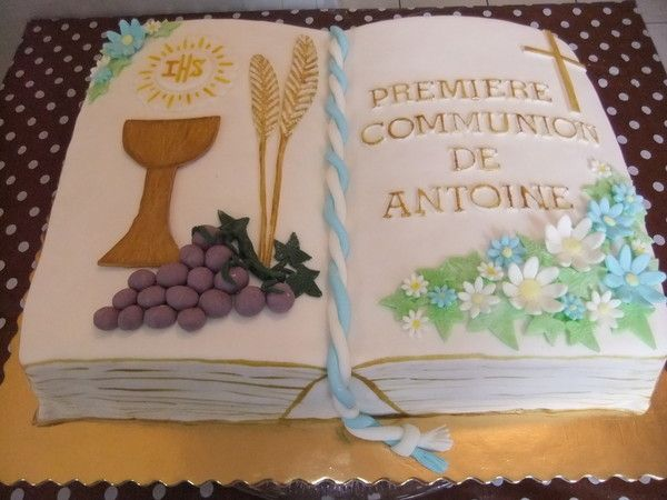 Gateau livre pour communion home baking for you blog photo for Idee deco 1ere communion